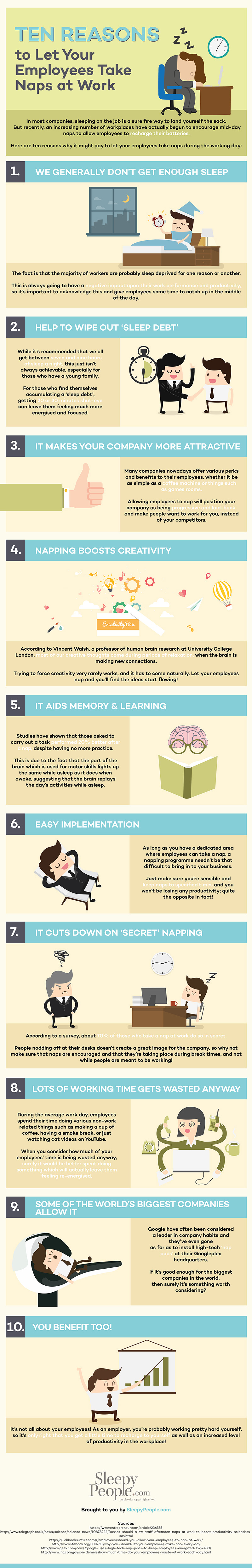 10 Reasons To Let Your Employees Take Naps At Work [Infographic]