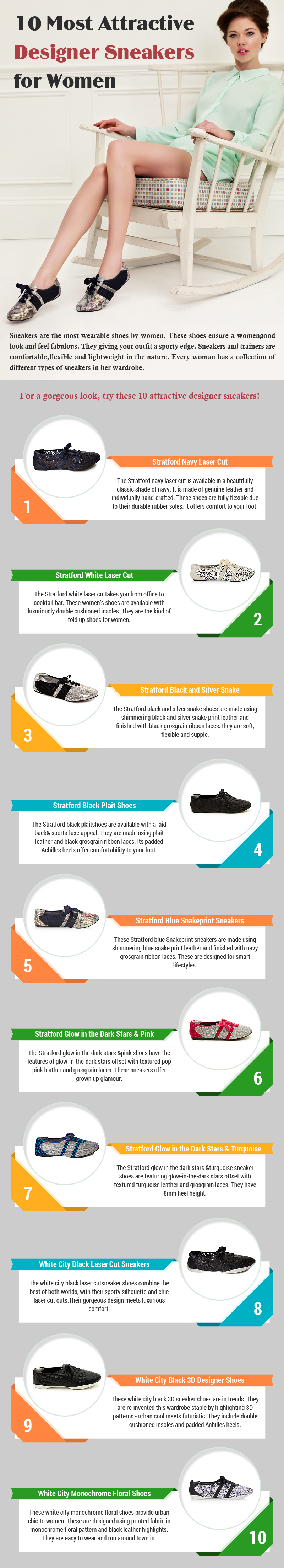 10 Most Attractive Designer Sneakers for Women [Infographic]