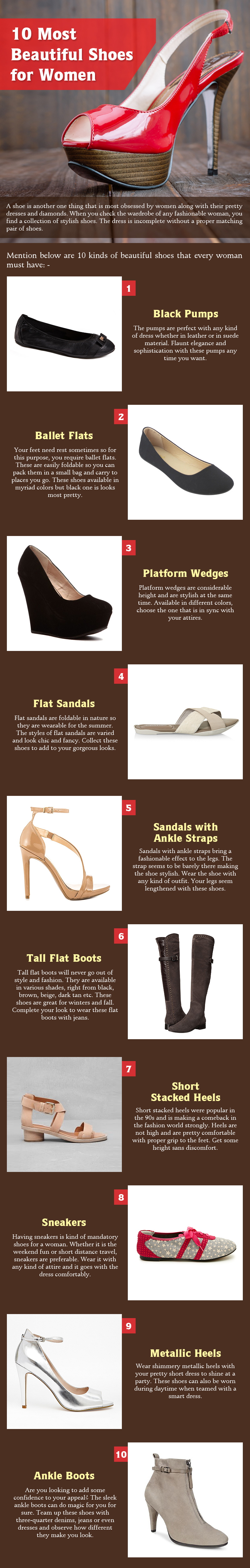 10 Most Beautiful Shoes For Women [Infographic]