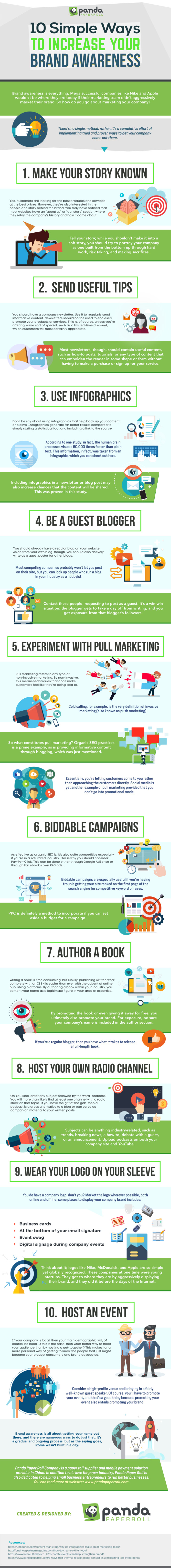 10 Simple Ways to Increase Your Brand Awareness [Infographic]