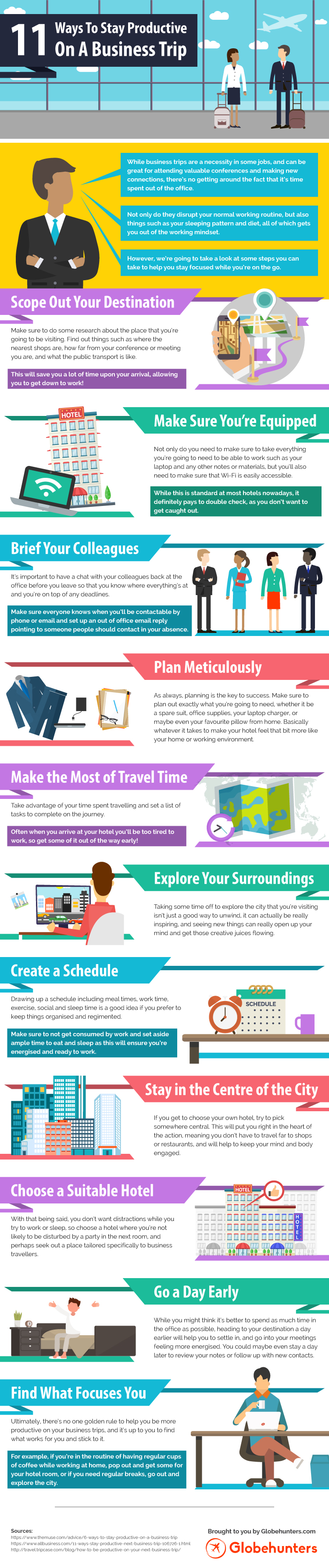 11 Ways To Stay Productive On A Business Trip [Infographic]