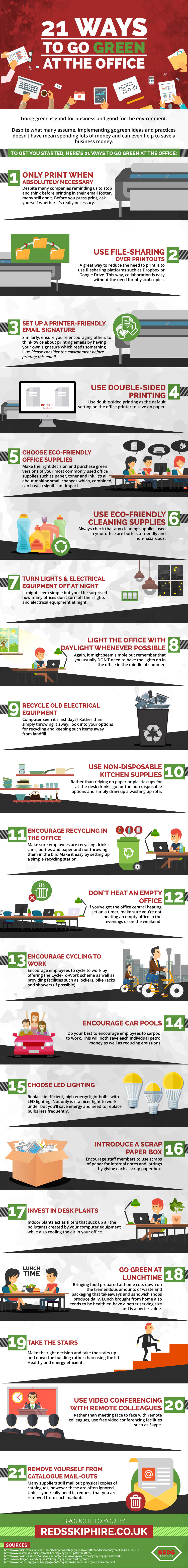 21 Ways To Go Green At The Office [Infographic]