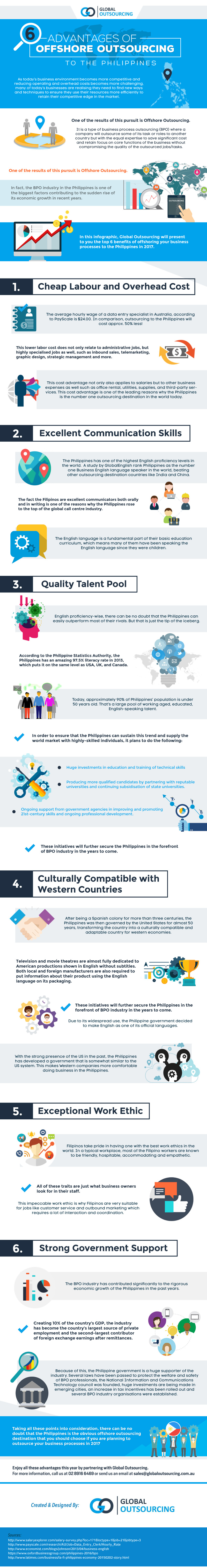 6 Advantages of Offshore Outsourcing to the Philippines [Infographic]