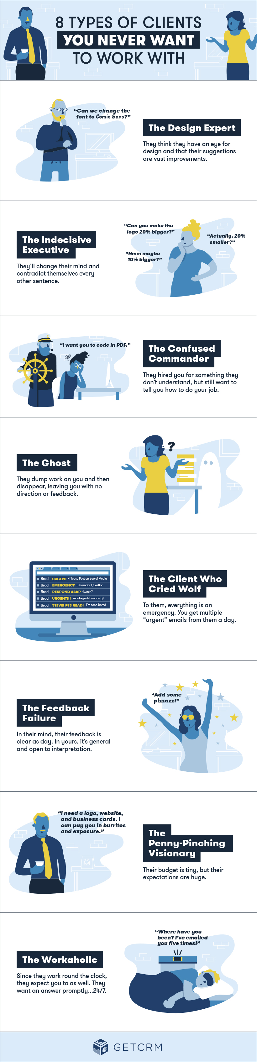 8 Clients You Don't Want To Work With [Infographic]