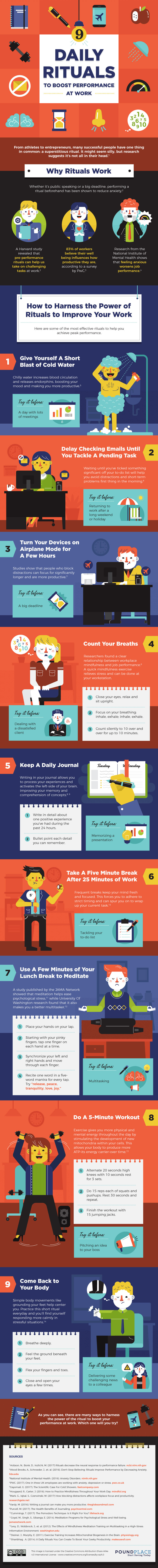 9 Daily Rituals To Boost Productivity [Infographic]