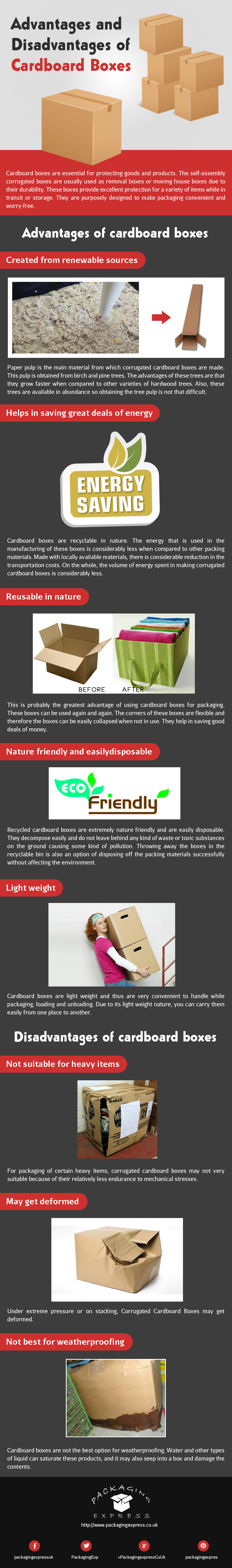 Advantages and Disadvantages of Cardboard Boxes [Infographic]