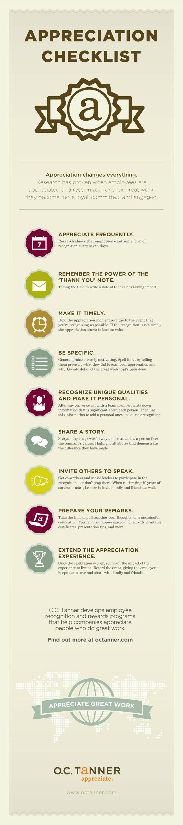 Employee Appreciation Checklist [Infographic]