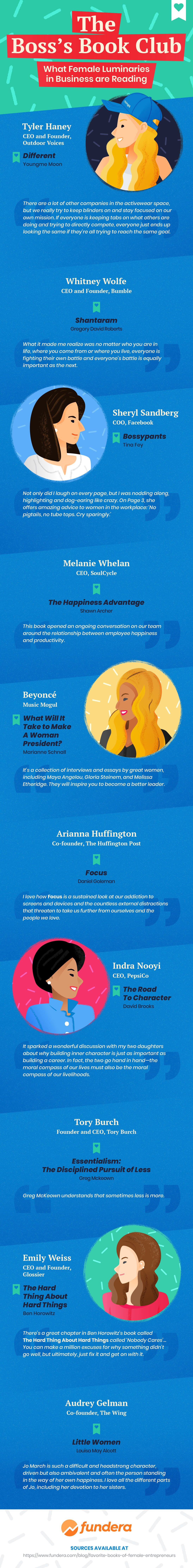 What's On The Bookshelf Of Your Favorite Businesswoman? [Infographic]