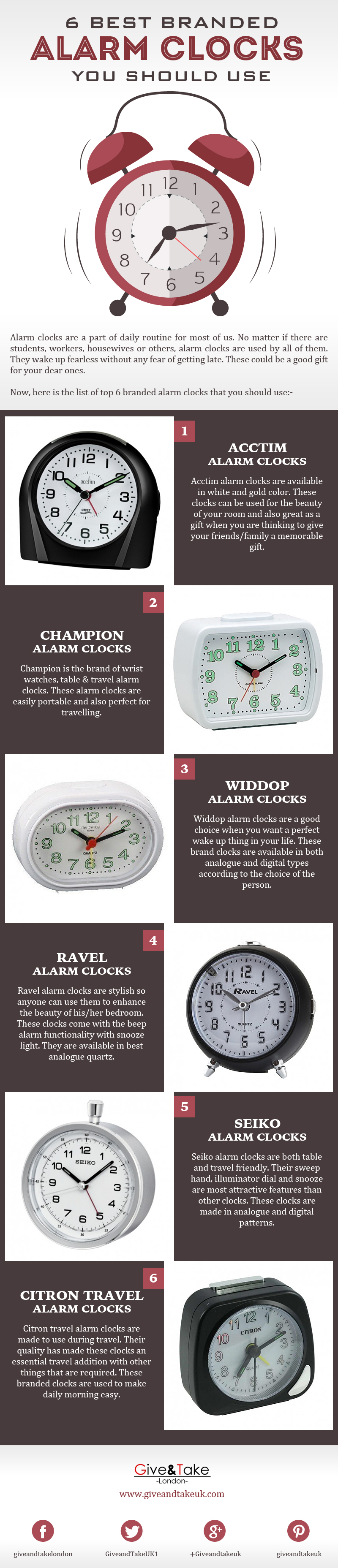 6 Best Branded Alarm Clocks You Should Use [Infographic]