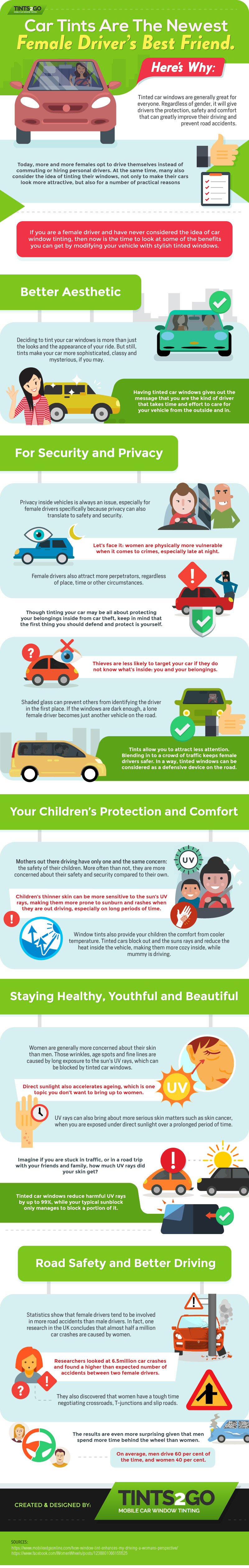 Car Tints Are the Newest Female Driver's Best Friend [Infographic]