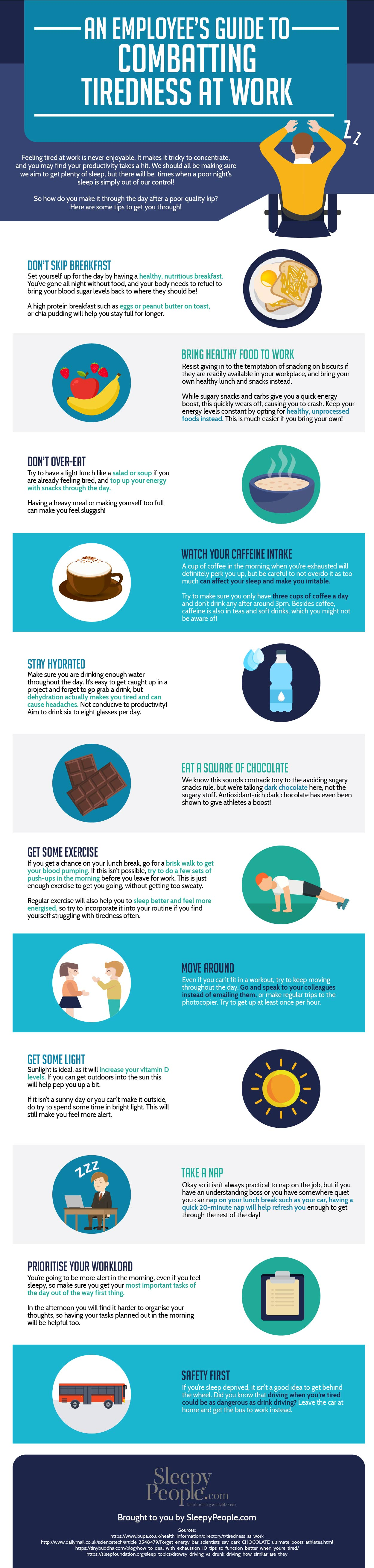 An Employee's Guide To Combatting Tiredness At Work [infographic]