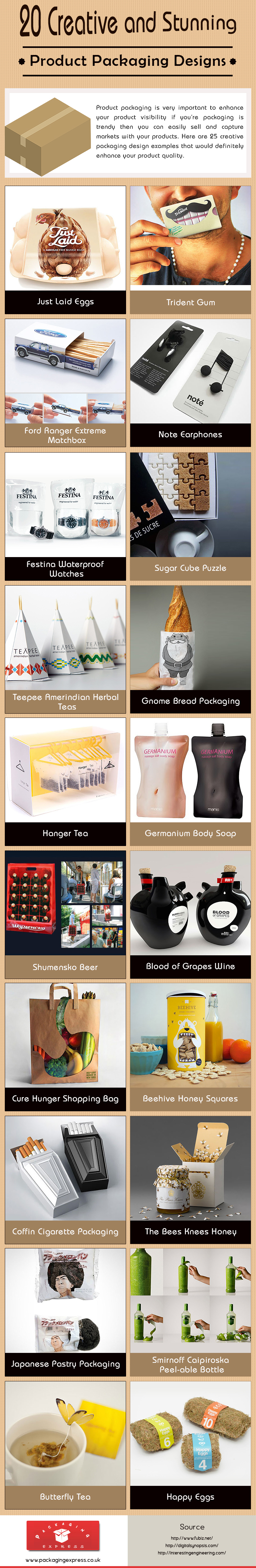 20 Creative and Stunning Product Packaging Designs [Infographic]