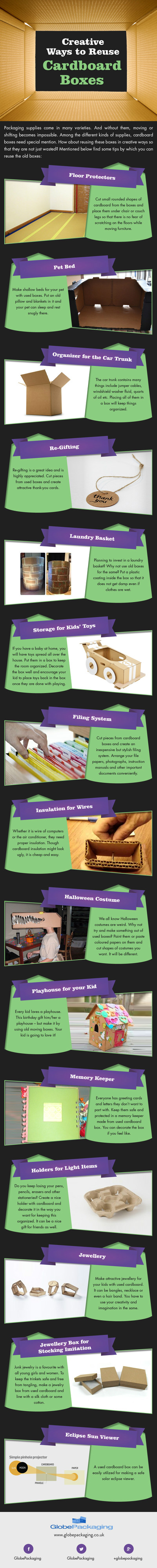 Creative Ways to Reuse Cardboard Boxes [Infographic]