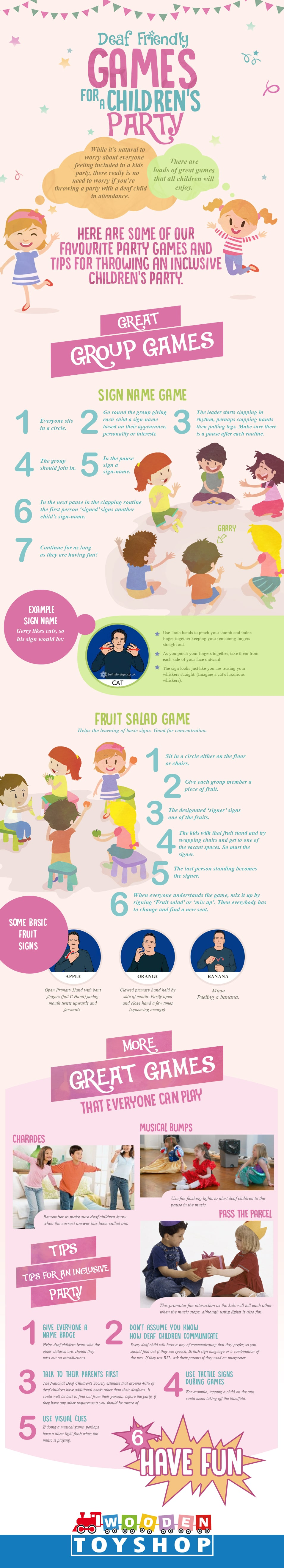 Deaf Children's Party Games [Infographic]