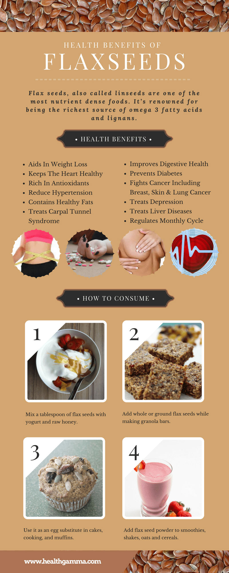 Health Benefits of Flaxseeds [Infographic]