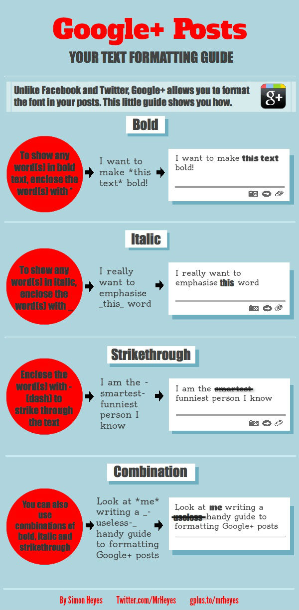 Google Plus Post Format Guide [Infographic]