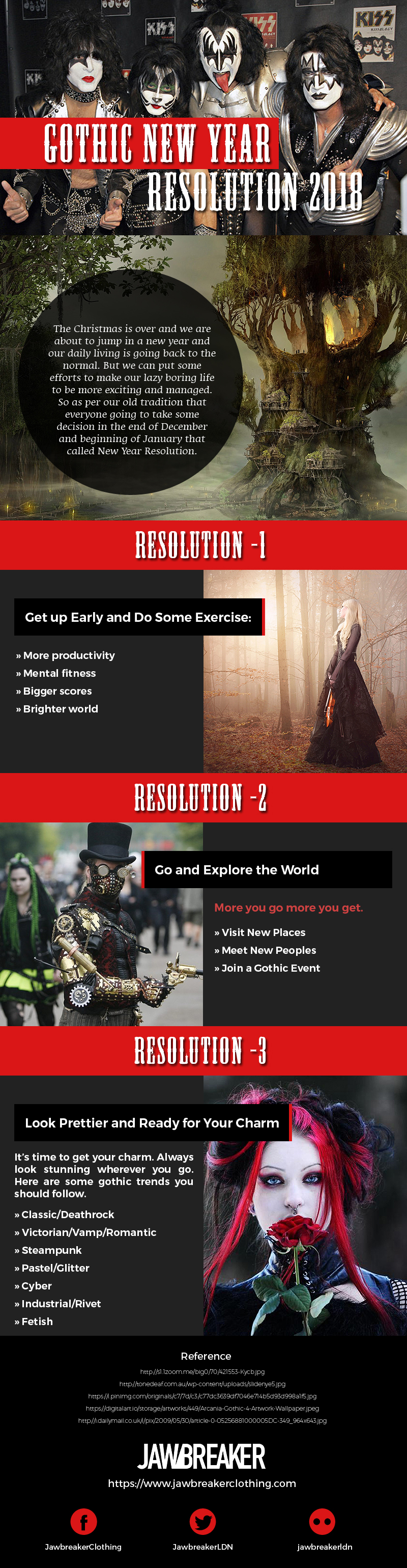 Gothic New Year Resolutions 2018 [Infographic]