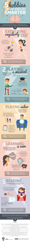 5 Hobbies To Make You Smarter [Infographic]