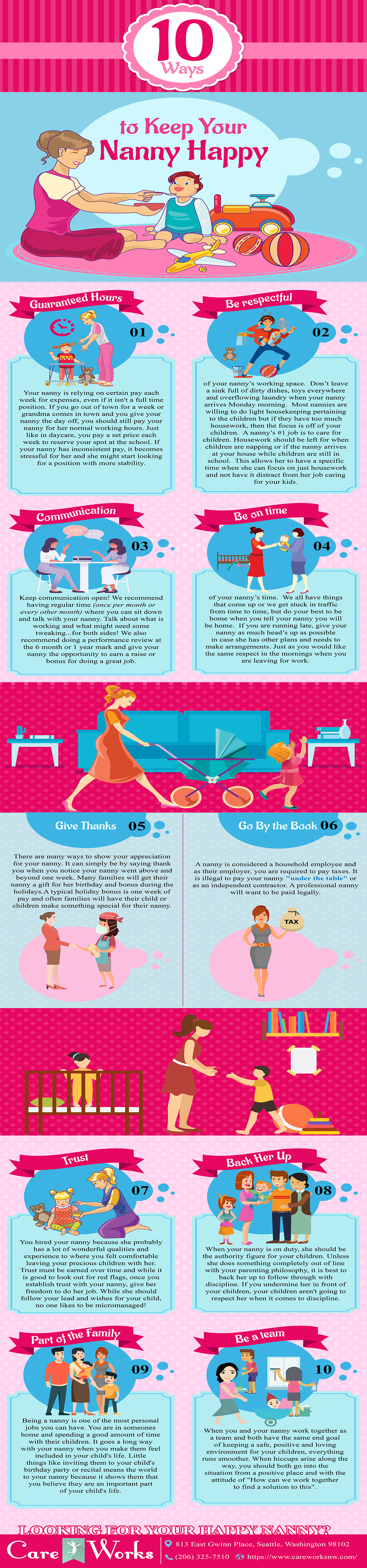 How To Keep The Nanny Happy [Infographic]