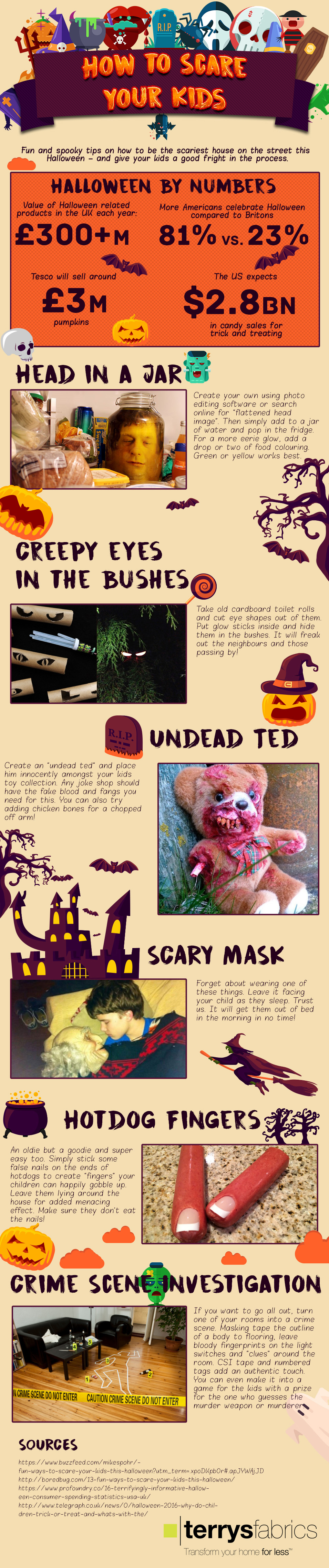 How To Scare Your Kids For Halloween [Infographic]