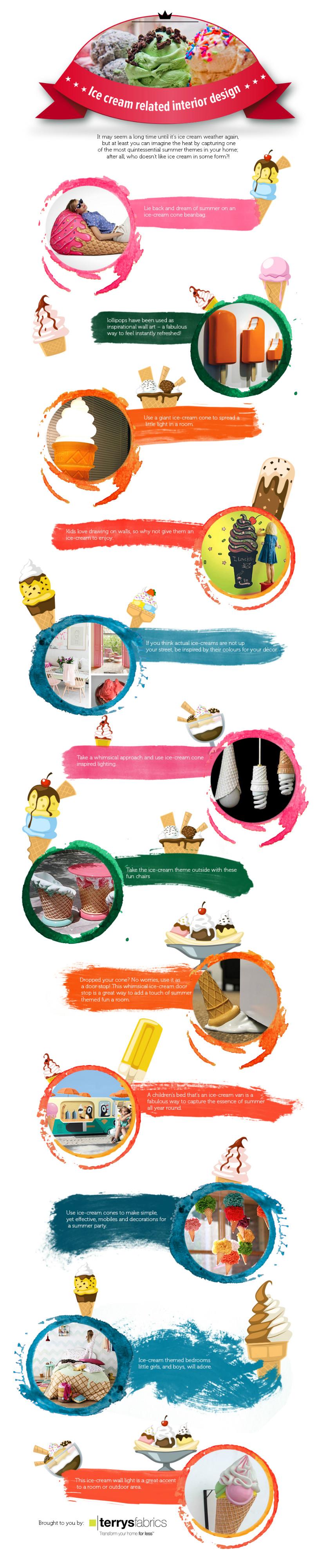 Ice Cream Related Interior Design [Infographic]