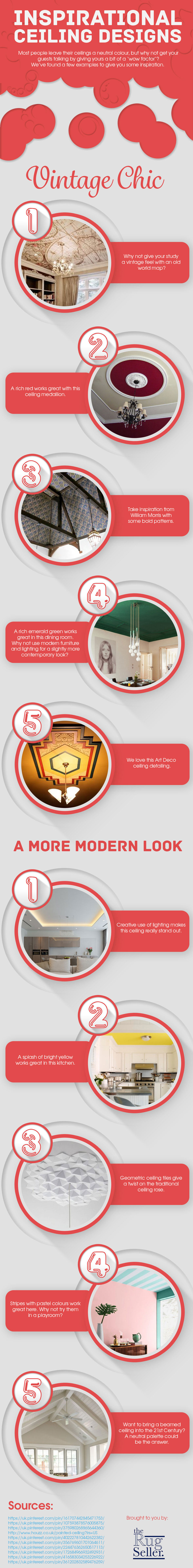 Inspirational Ceiling Designs [Infographic]
