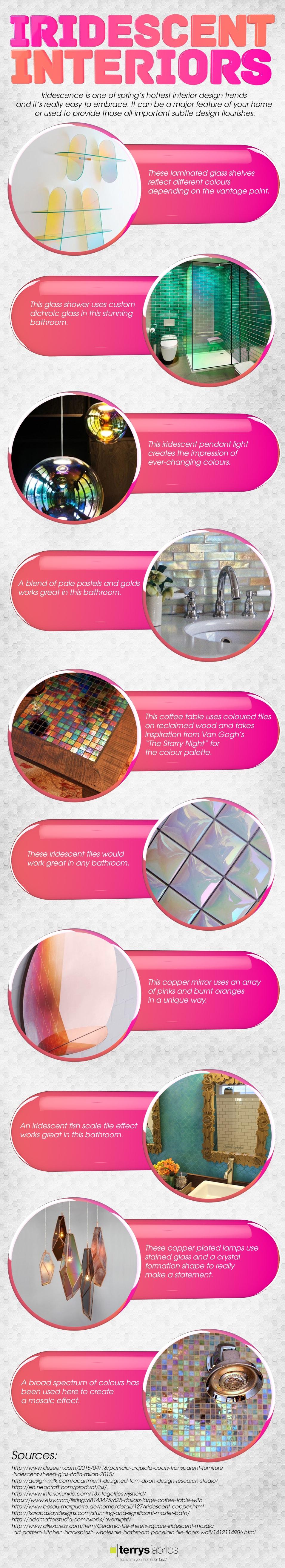 Iridescent Interiors [Infographic]