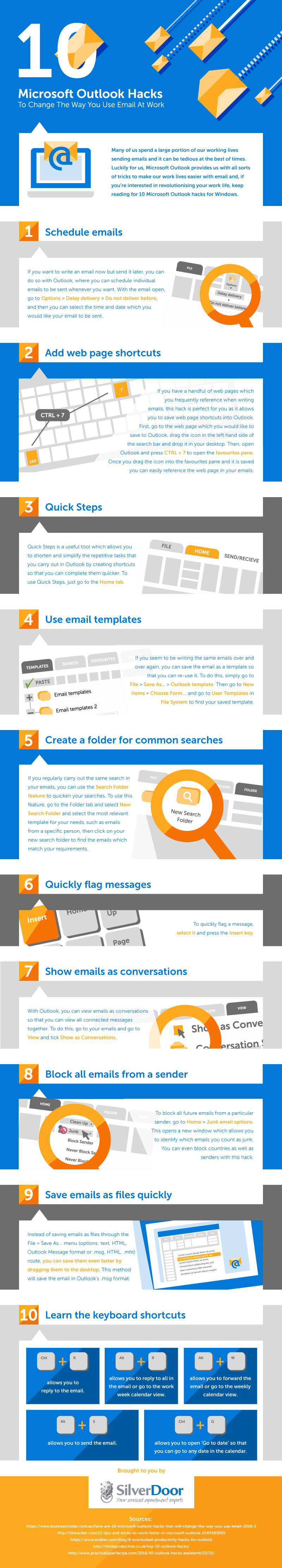 10 Microsoft Outlook Hacks To Change The Way You Use Email At Work [Infographic]