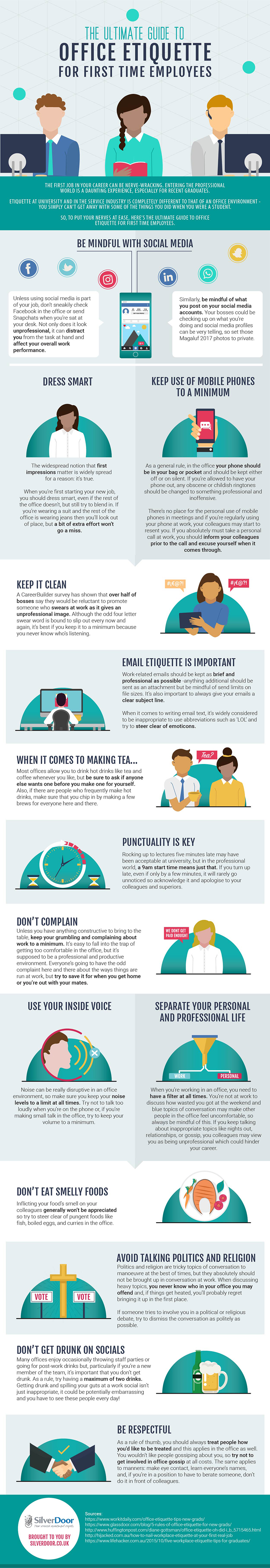 The Ultimate Guide To Office Etiquette For First Time Employees [Infographic]