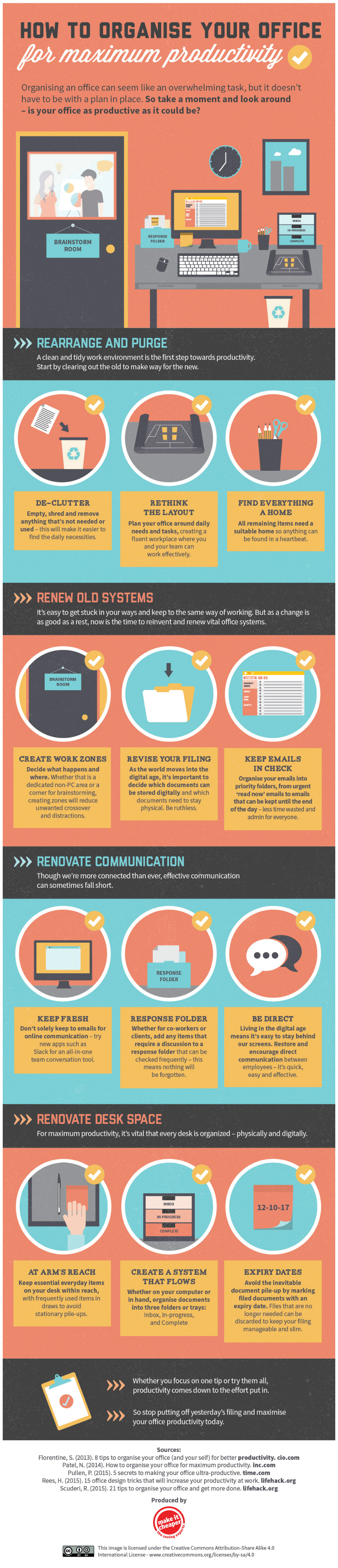 How To Organize Your Office For Maximum Productivity [Infographic]