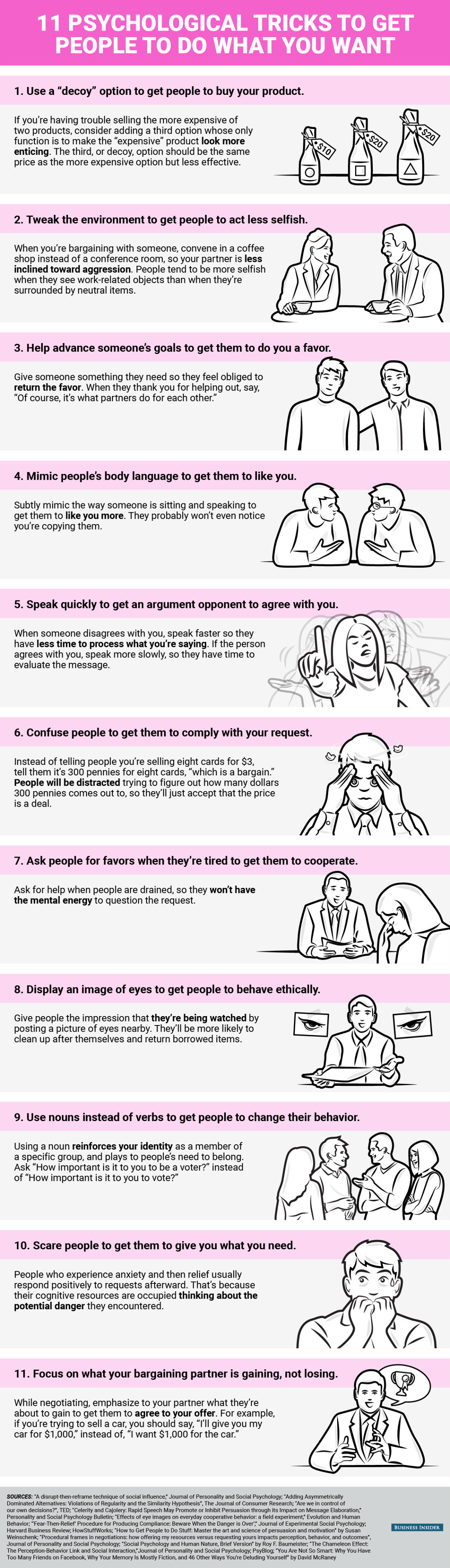 Psychological Tricks To Use At Work [Infographic]