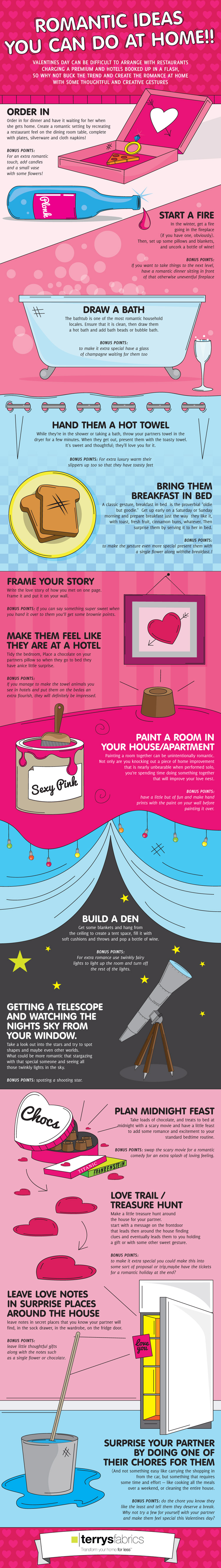 Romantic Ideas You Can Do At Home [Infographic]