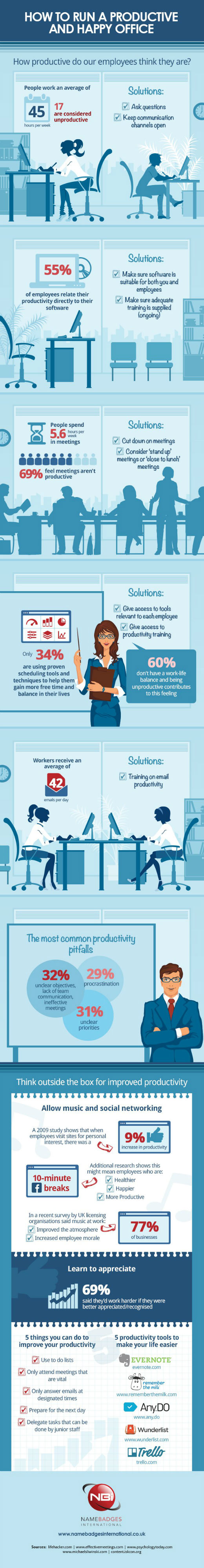 Great Ways To Boost Your Office Productivity [Infographic]