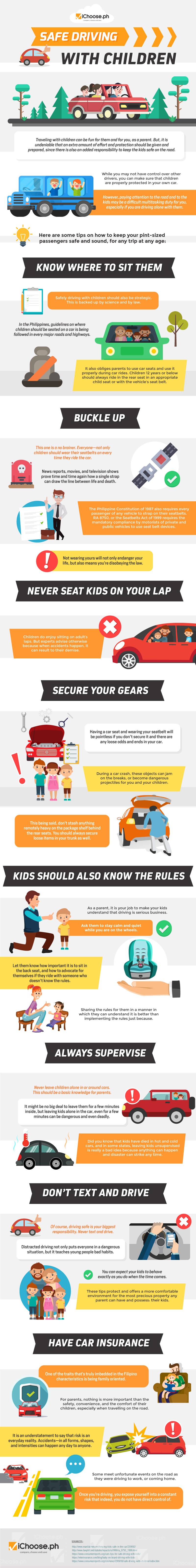 Safe Driving With Children [Infographic]
