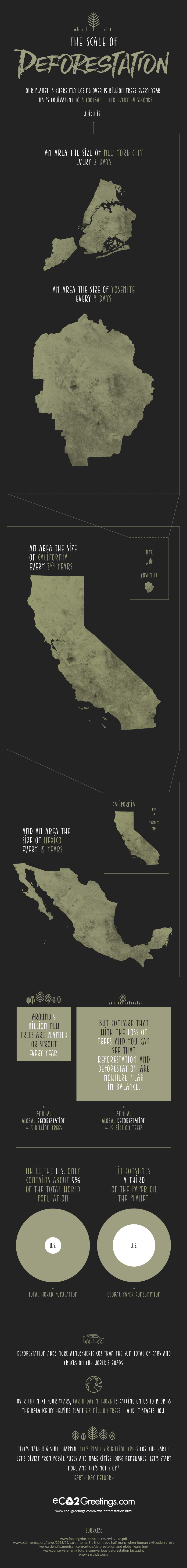 The Scale of Deforestation [Infographic]