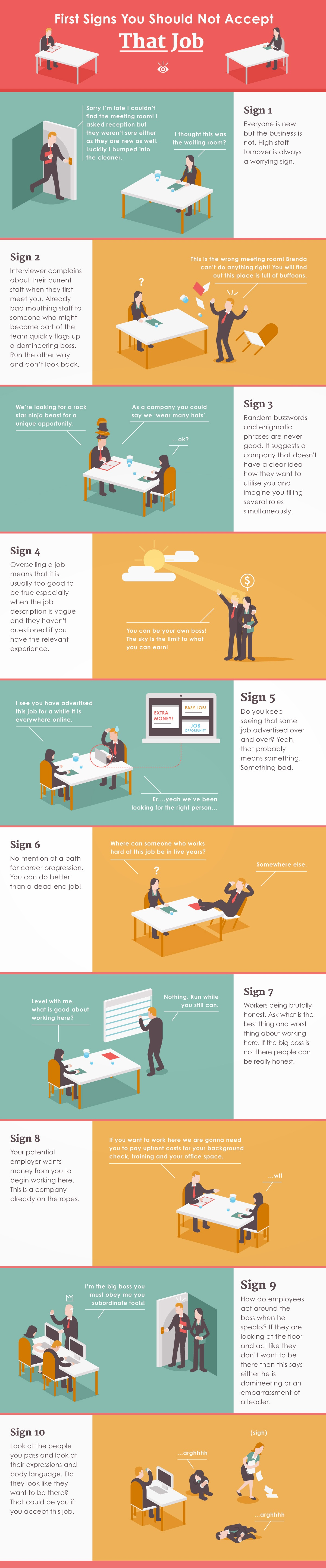Signs You Should Not Accept That Job [Infographic]