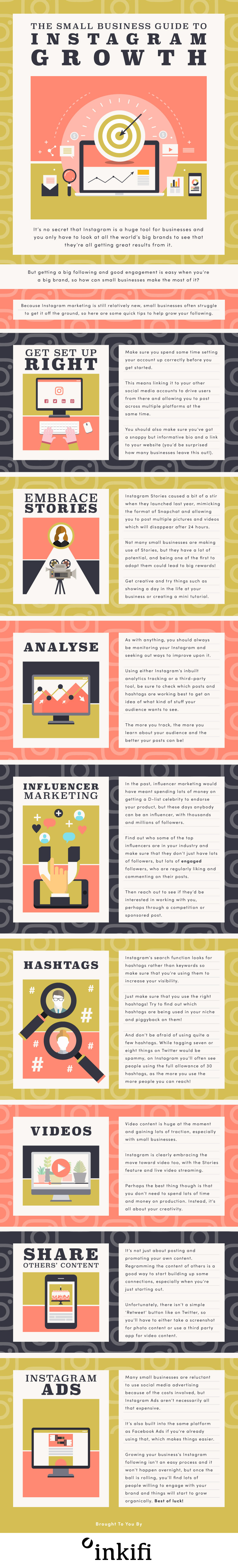 Small Business Guide To Instagram Growth [Infographic]