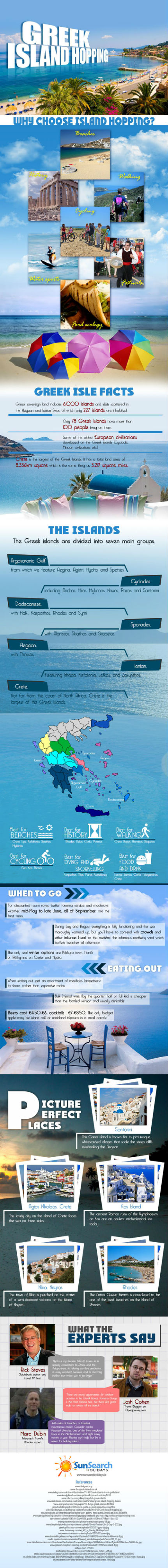 Greek Island Hopping [Infographic]