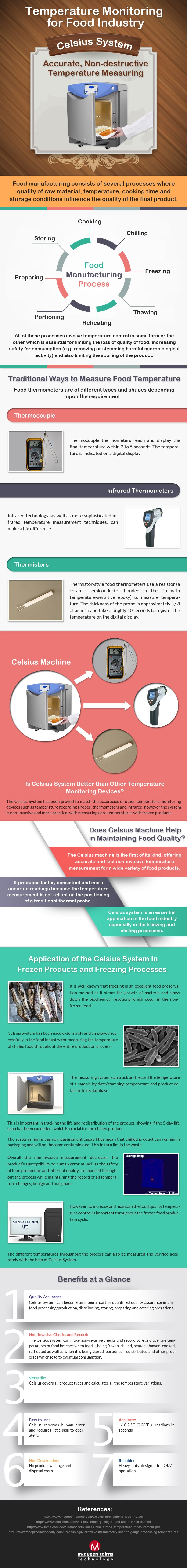 Temperature Monitoring For Food Industry Infographic