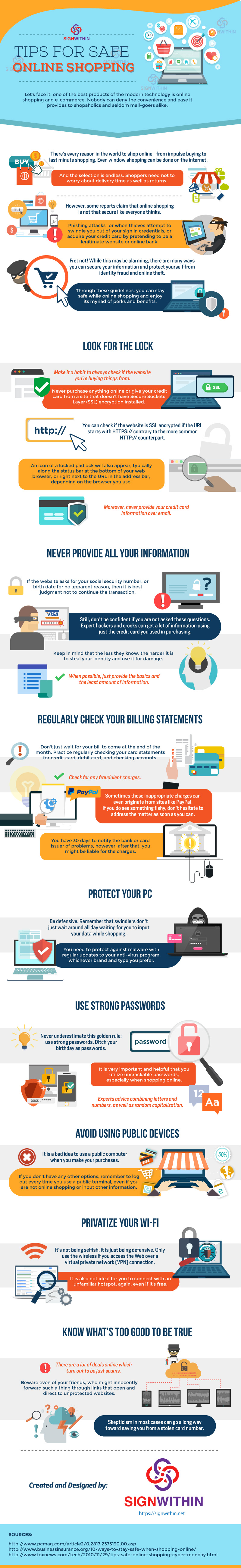 Tips for Safe Online Shopping [Infographic]