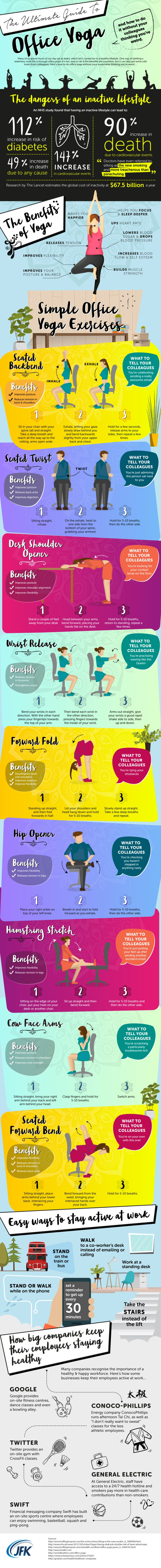 Ultimate Guide To Office Yoga [Infographic]