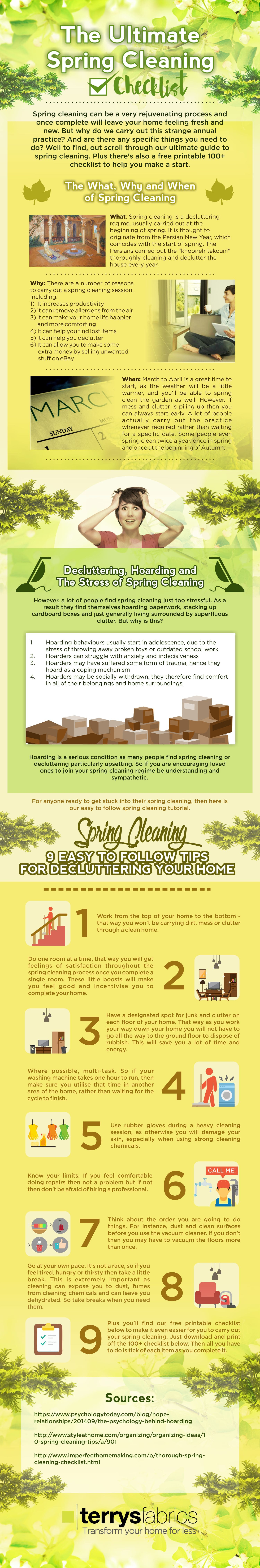 The Ultimate Spring Cleaning Checklist [Infographic]