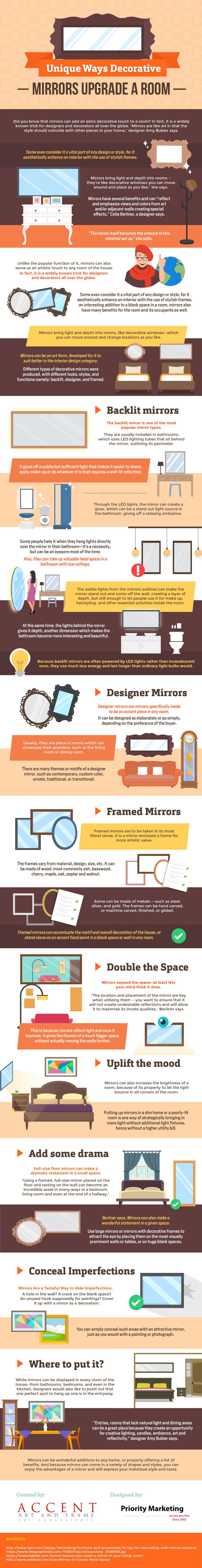 Unique Ways Decorative Mirrors Upgrade a Room [Infographic]