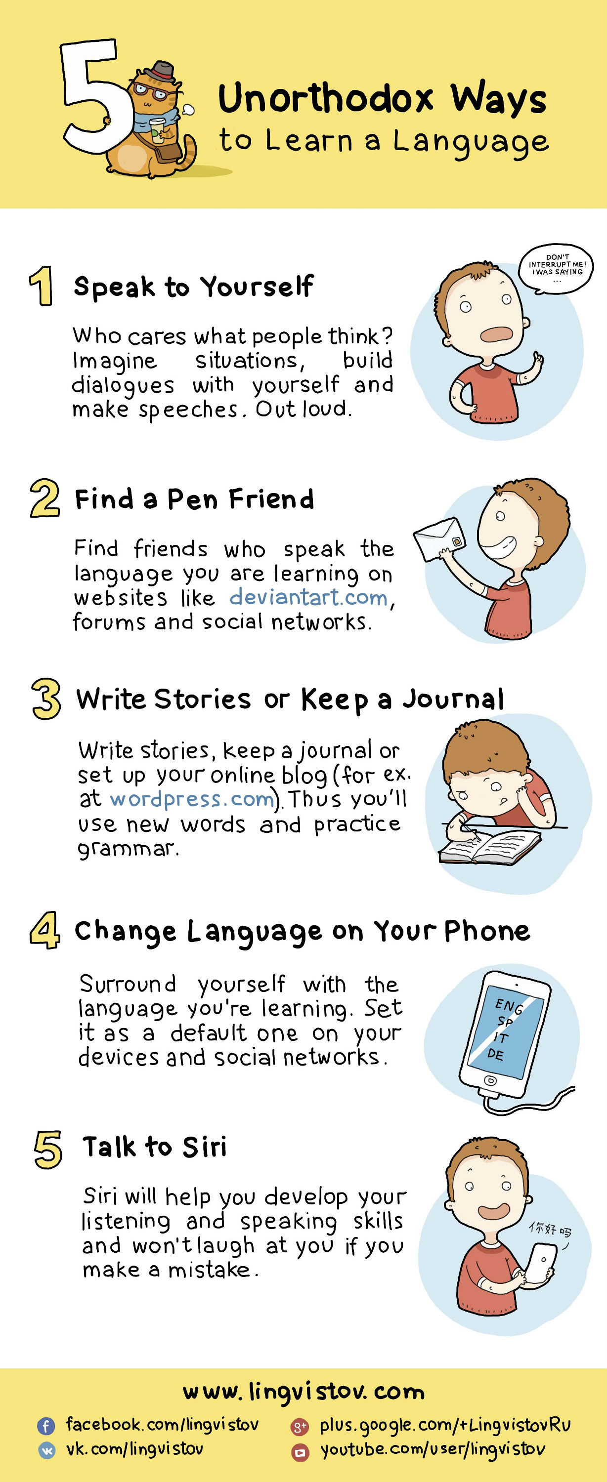 5 Unorthodox Ways To Learn a Language [Infographic]