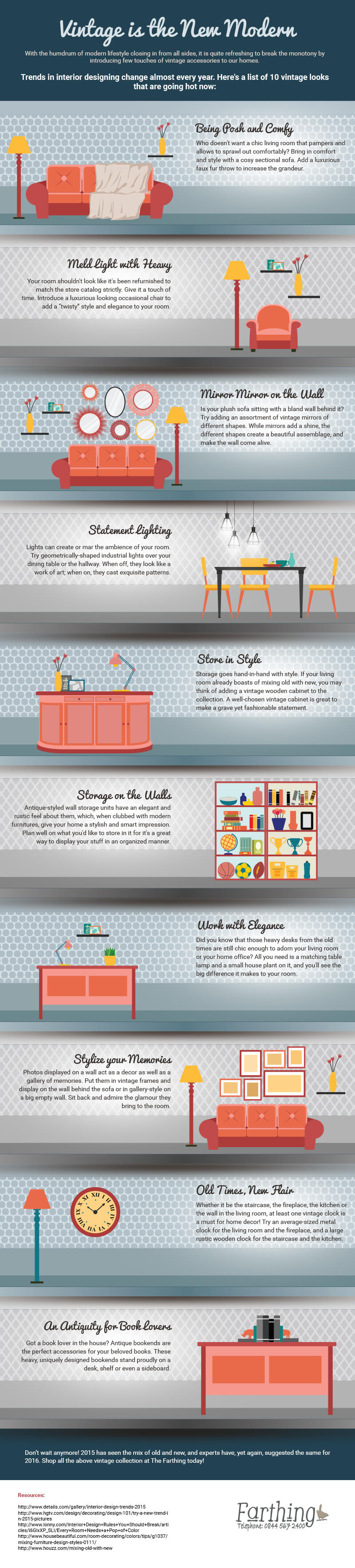 How to Decorate Your Home In Vintage Style [Infographic]