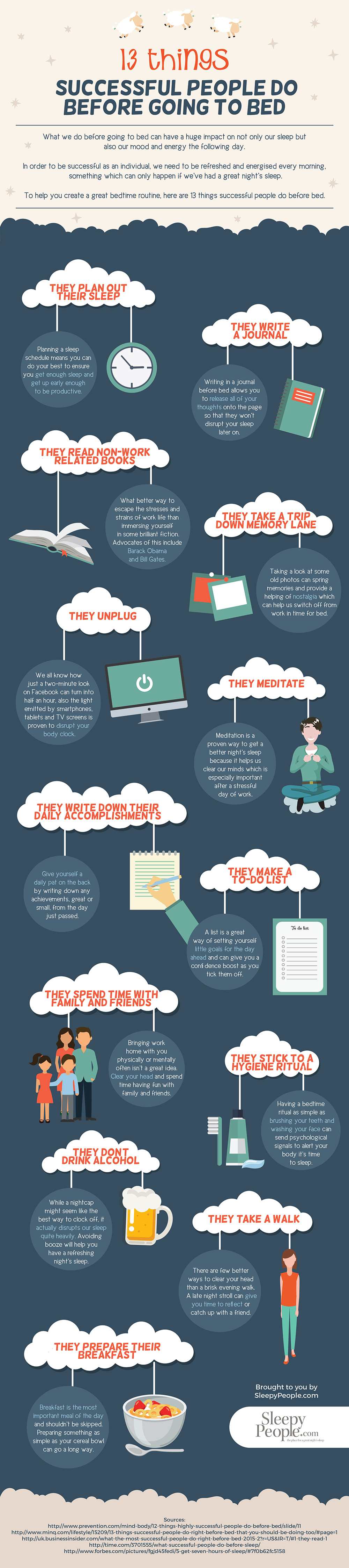 13 Things Successful People Do Before Going To Bed [Infographic]