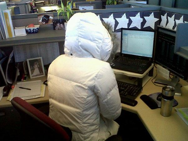 Freezing Office Temperatures