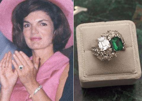 Jackie Kennedy Onassis' Van Cleef & Arples ring of emerald and diamond