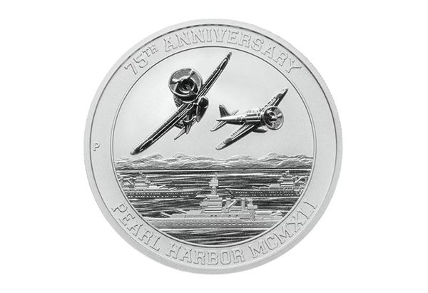 75th Pearl Harbor MCMXLI Silver Coin