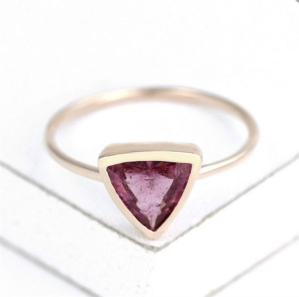 Equalli - Pink Collection, Pink Tourmaline Ring